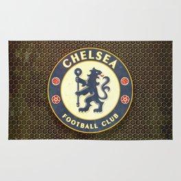 FC Chelsea metal background Rug