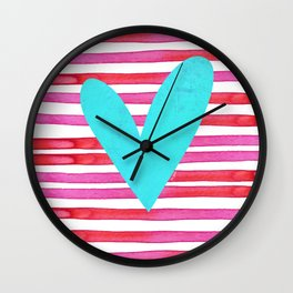 Soulmates Lines and Hearts Wall Clock