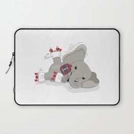 Elephant on skates Laptop Sleeve