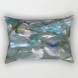 Ocean Hue Sea Glass Assortment Rectangular Pillow