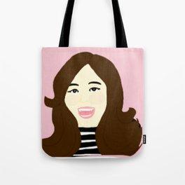 Knock Knock! Tzuyu Pink Tote Bag