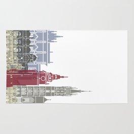 Krakow skyline poster Rug