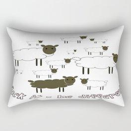 Flock It - Be Different Rectangular Pillow