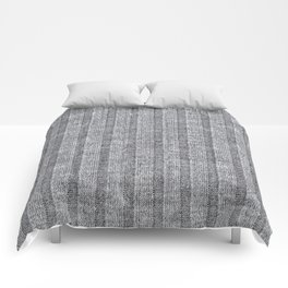 Soft Grey Jersey Knit Pattern Comforters