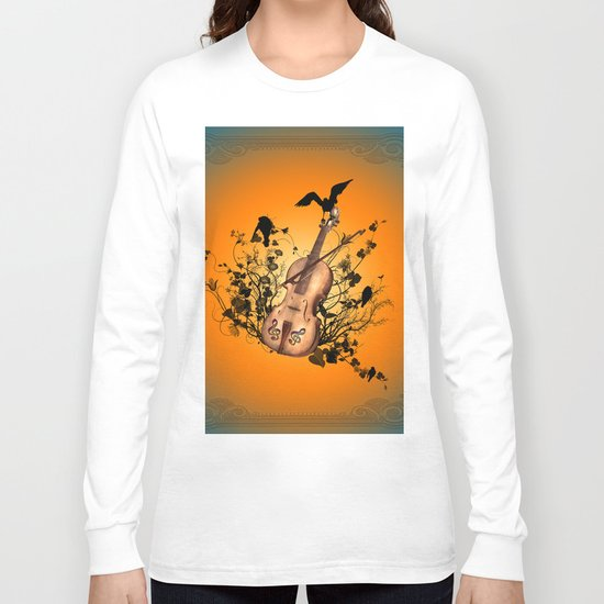 Violin with violin bow Long Sleeve T-shirt