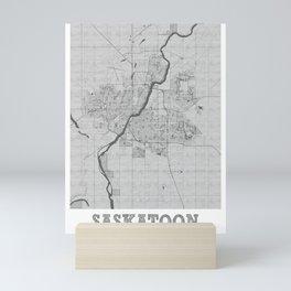 Saskatoon Pencil City Map Mini Art Print