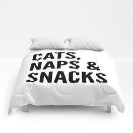 Cats, Naps & Snacks Comforters