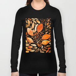 Autumn watercolor leaves Long Sleeve T-shirt