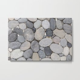 Smooth Grey Pebble Minimalistic Zen  Metal Print
