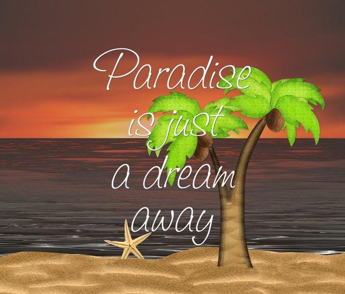 Paradise Is Just A Dream Away Metal Travel Mug