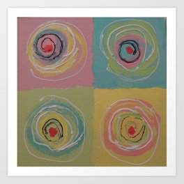 Colorful Canapes Art Print