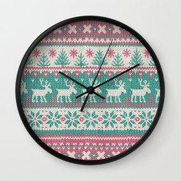 Ugly Christmas Sweater Digital Knit Pattern 5 Wall Clock