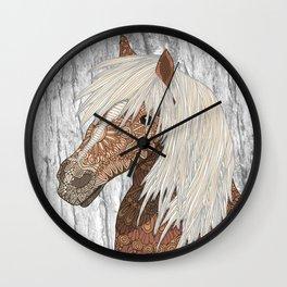 Haflinger Horse Wall Clock