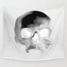 Black Skull Wall Tapestry