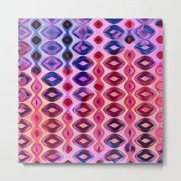 Vertical Diamonds Pink to Purple Metal Print