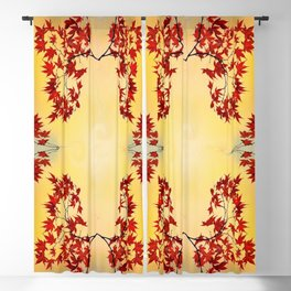 Red Maple Blackout Curtain