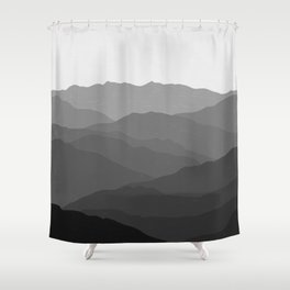 Shades of Grey Mountains Shower Curtain