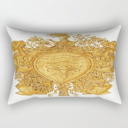 Golden Arms of the Chevalier d'Orléans Rectangular Pillow