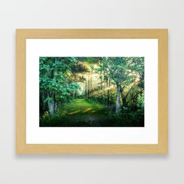 In the morning and amazing Framed Art Print