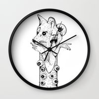 werewolf Wall Clocks featuring Werewolf by Benson Koo