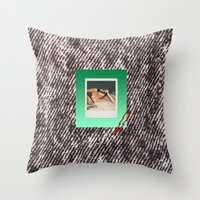 punk Throw Pillows featuring PUNK by MODERN UNDERGROUND