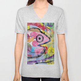 Fish Panting for a Drink with Hemingway in Havana Unisex V-Neck