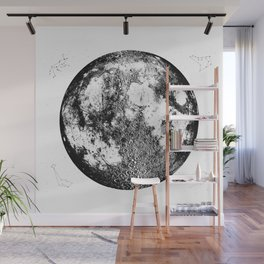 Negative Full Moon Print, by Christy Nyboer Wall Mural
