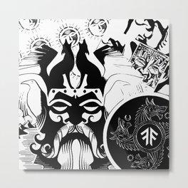 Norse Noir Metal Print