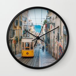 Lisbon, Portugal, Tram Wall Clock