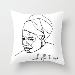 and still I rise Throw Pillow