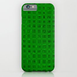 Square pastel curved stripes with imitation of the bark of a green tree trunk. iPhone Case