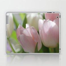 PINK AND WHITE TULIPS Laptop & iPad Skin