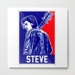 Steve Stranger Thing Metal Print