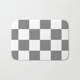 Large Checkered - White and Gray Bath Mat