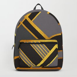 Art Deco New Tomorrow In Grey Backpack