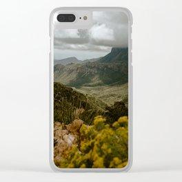 Vibrant Mountain Range Landscape, Big Bend Clear iPhone Case