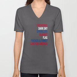 Components of a Fantastic 4th of July - Happy Independence Day! Unisex V-Neck