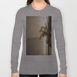 Tunisian African Beach Sunrise Long Sleeve T-shirt