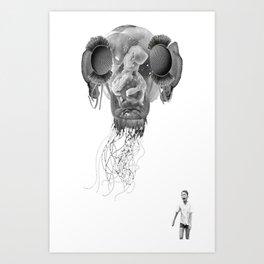 SPAGHETTI ALIEN Art Print