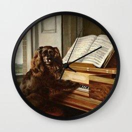 Philip Reinagle - Portrait Of An Extraordinary Musical Dog Wall Clock