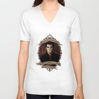 buffy the vampire slayer V-neck T-shirts featuring Angel - Angel/Buffy the Vampire Slayer by muin+staers