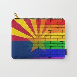 Gay Rainbow Wall Arizona Flag Carry-All Pouch