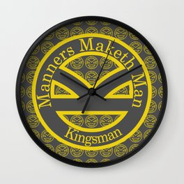Manners Maketh Man [Kingsman] Wall Clock