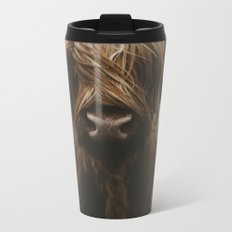 Scottish Highland Cattle Metal Travel Mug