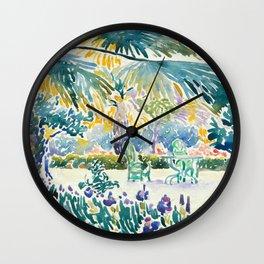 """Henri-Edmond Cross """"Garden of the Painter at Saint Clair"""" Wall Clock"""