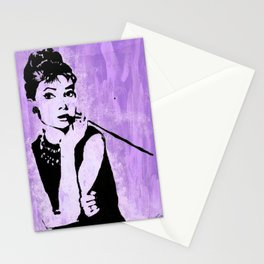 Audrey in Purple Stationery Cards