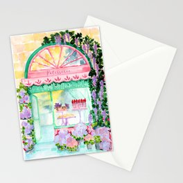 French bakery watercolor illustration Stationery Cards