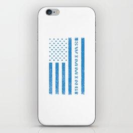 American Swimmer wb iPhone Skin
