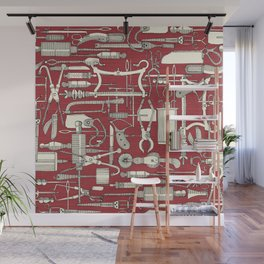 fiendish incisions claret Wall Mural