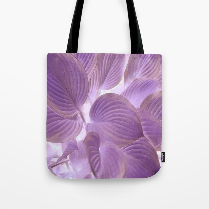 Flower | Flowers | Lavender Purple Glowing Hosta Tote Bag